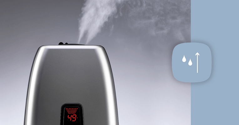 Warm mist humidifiers help with dry air