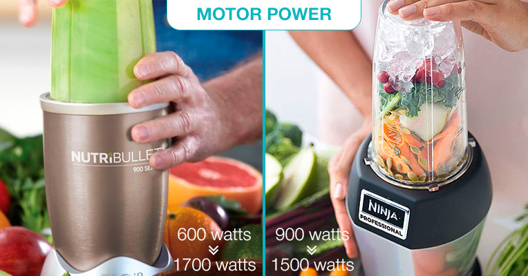 NutriBullet vs. Nutri Ninja: motor power