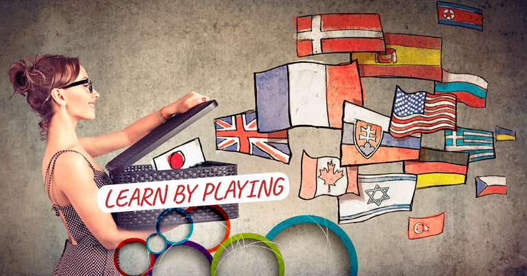 Learning a new language by playing is very effective