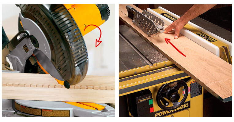 Difference between a miter saw and a table saw