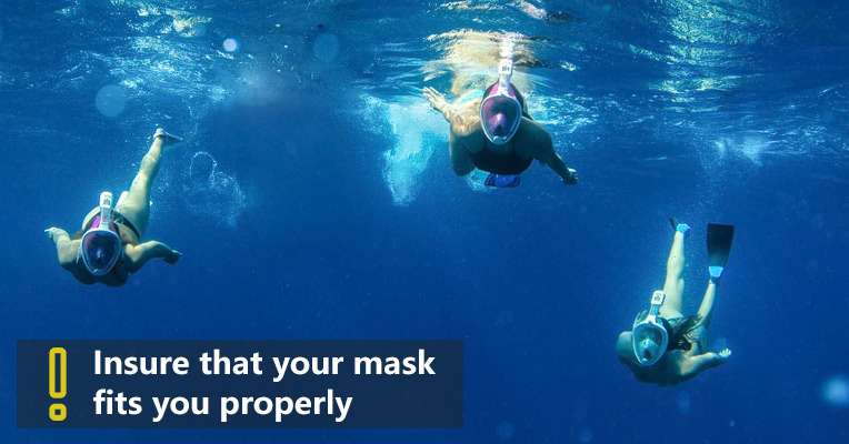 How to choose and wear a snorkel mask