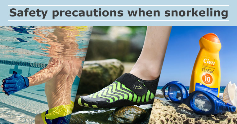 Safety precautions for snorkeling