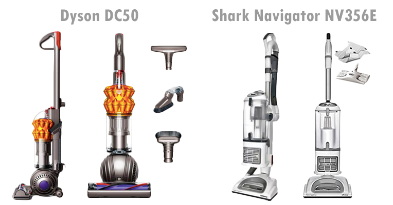 Dyson DC50 Animal Compact vs. Shark Navigator NV356E