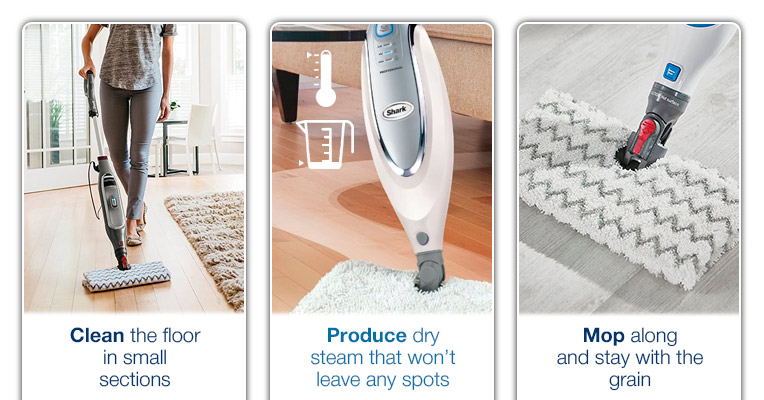Shark steam mop on laminate floors