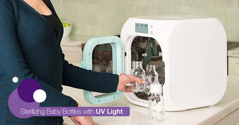 Sanitizing with UV light
