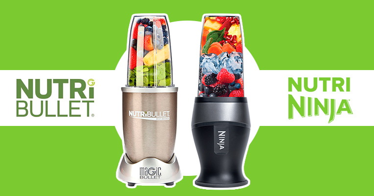 Side-to-side comparison of NutriBullet and Nutri Ninja blenders