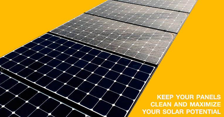 Cleaning a Solar Panel Raises Efficiency