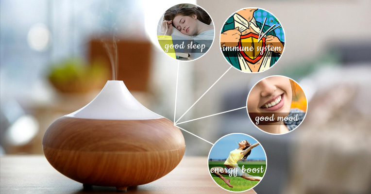 Essential oils help control stress, promote better sleep, reduce anxiety and increase energy