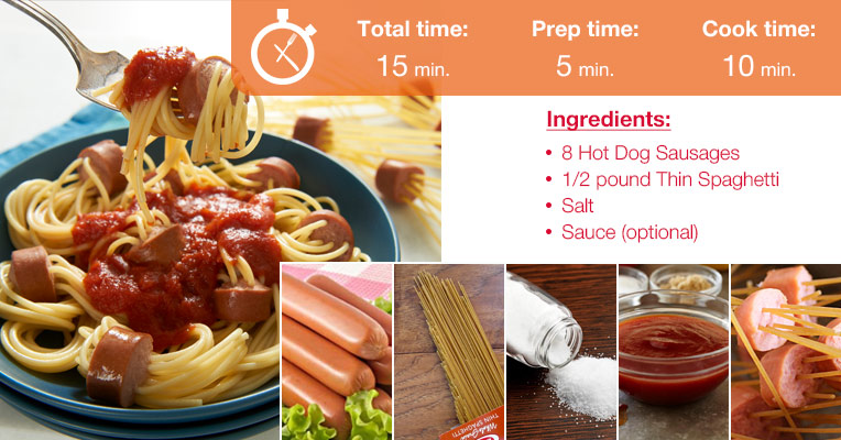 Hot Dog and Spaghetti Preparation