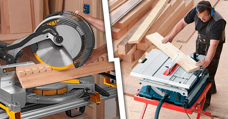 How a miter saw and table saw compare