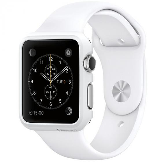 Apple Watch 7000 Series Aluminum Case Sport with White Sport Band