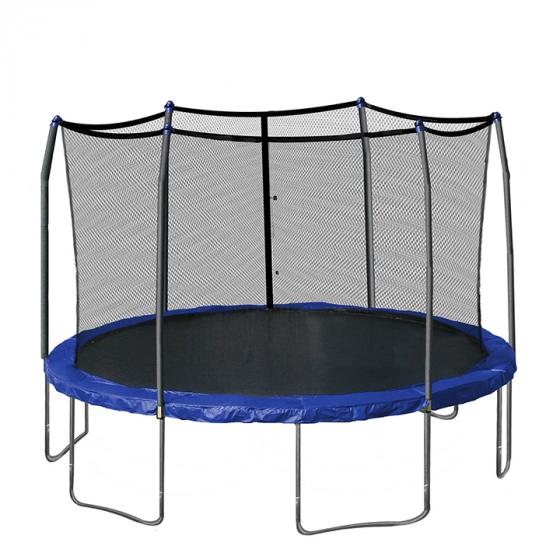 Skywalker Trampolines 15-Feet Round Trampoline (SWTC15X) Enclosure with Spring Pad