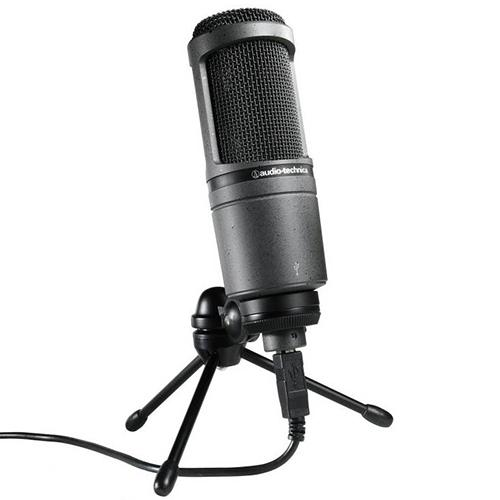 Audio-Technica AT2020 Cardioid Condenser Studio Microphone , Black
