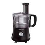 BLACK+DECKER FP1140BD 8-Cup Food Processor, Black