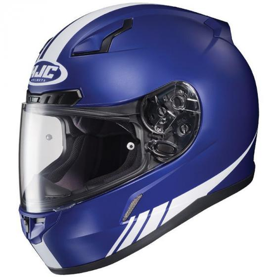 HJC CL-17 Streamline Motorcycle Helmet Flat Blue/White XS