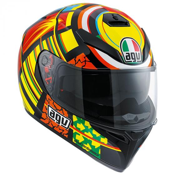 AGV K-3 SV Elements Helmet-Yellow-Orange-Red-Black-L