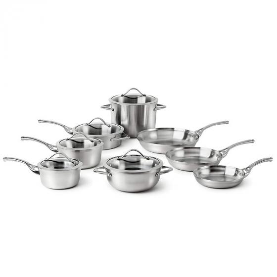 Calphalon Contemporary LR13A Stainless 13-Piece Cookware Set