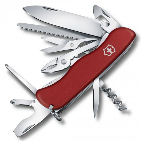 Victorinox Hercules Swiss Army Pocket Knife, Red (54751)