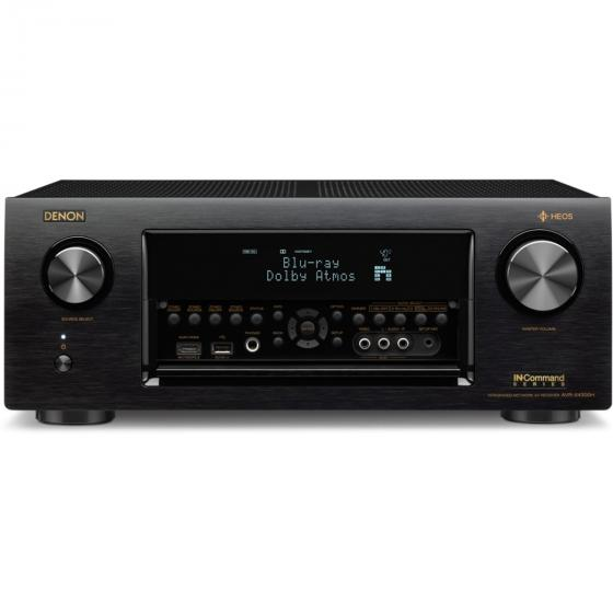 Denon AVR-X4300H 9.2 Channel Full 4K Ultra HD AV Receiver with Built-in HEOS wireless technology featuring Bluetooth and Wi-Fi
