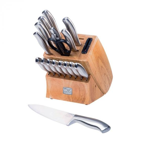 Chicago Cutlery Insignia 1067823 18-Piece Steel Knife Set