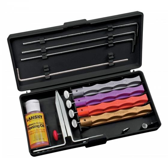 Lansky LKDMD 4-Stone Deluxe Diamond Knife Sharpening Kit