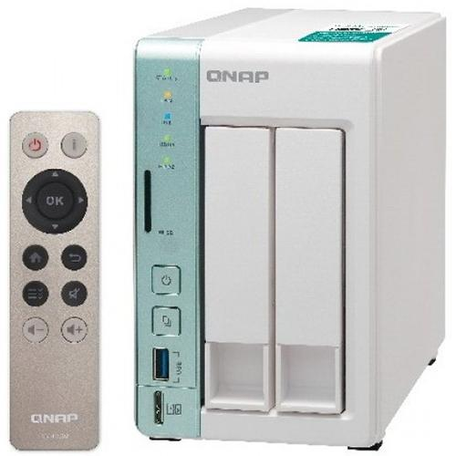 QNAP TS-251A 2-bay personal cloud NAS/DAS with USB direct access, HDMI local display