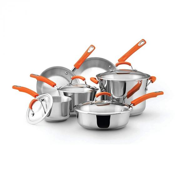 Rachael Ray Classic 75813 Stainless Steel 10-Piece Cookware Set