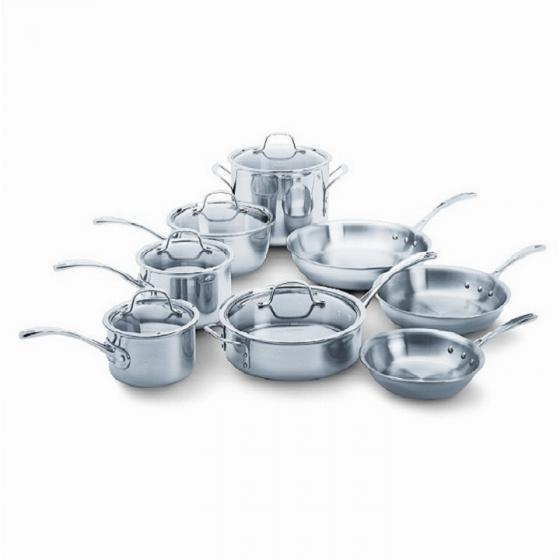 Calphalon Tri-Ply 1767951 13 Piece Stainless Steel Cookware Set