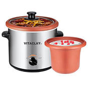 VitaClay VS7600-2C 2-in-1 Yogurt Maker and Personal Slow Cooker