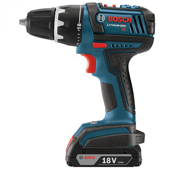 Bosch DDS181-02 18-Volt Lithium-Ion 1/2-Inch Compact Tough Drill/Driver Kit