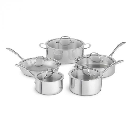 Calphalon Tri-Ply 1874301 10-Piece Stainless Steel Cookware Set