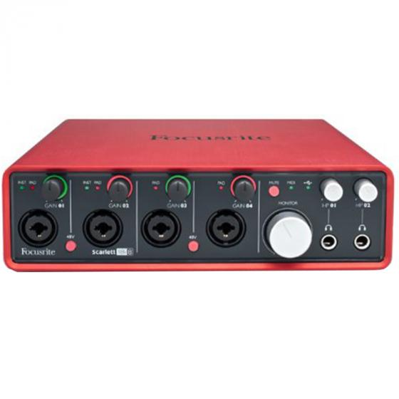 Focusrite Scarlett 18i8 Audio Interface with Four Focusrite Mic Preamps