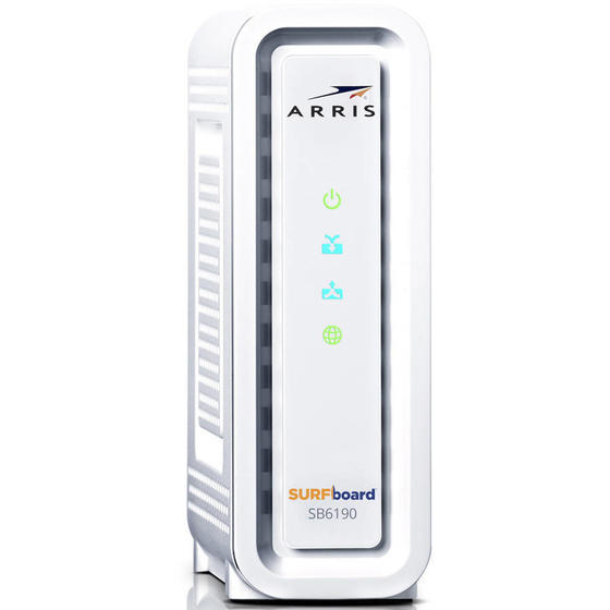 ARRIS SB6190 DOCSIS 3.0 Cable Modem - Retail Packaging - White