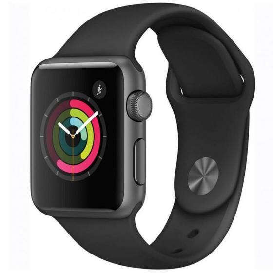 Apple Watch Series 1 Space Gray Aluminum Case/ Black Sport Band