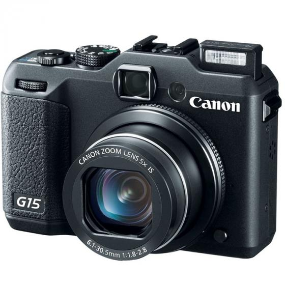 Canon PowerShot G15 Digital Camera with 3-Inch LCD (Black)