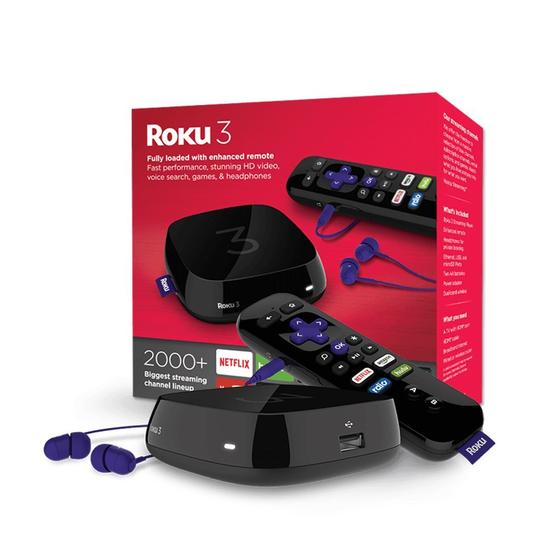 Roku 3 (2015 Model) Streaming Media Player with Voice Search (4230R)