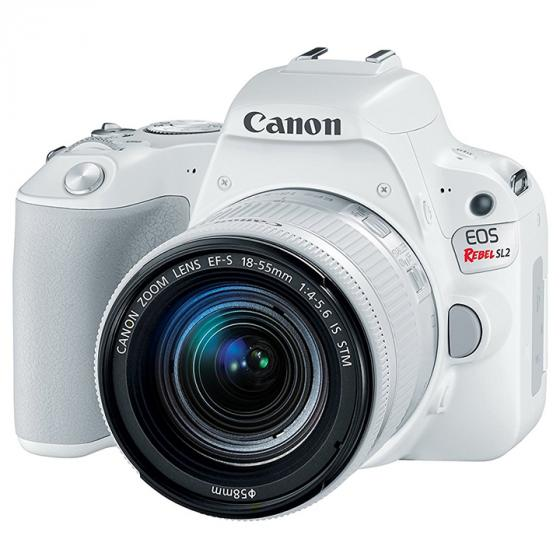 Canon EOS Rebel SL2 Camera with EF-S 18-55mm STM Lens, White