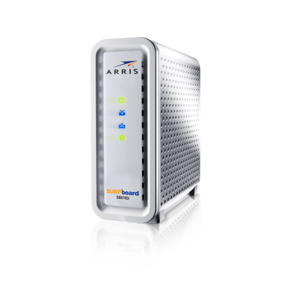 ARRIS SB6183 Docsis 3.0 Cable Modem- Retail Packaging- White