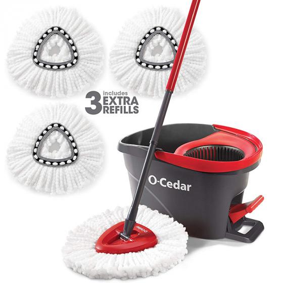 O-Cedar EasyWring (150909) Spin Mop and Bucket with 3 Extra Refills