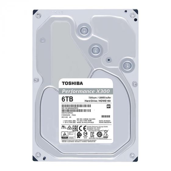 Toshiba X300 6TB Performance Desktop and Gaming Hard Drive