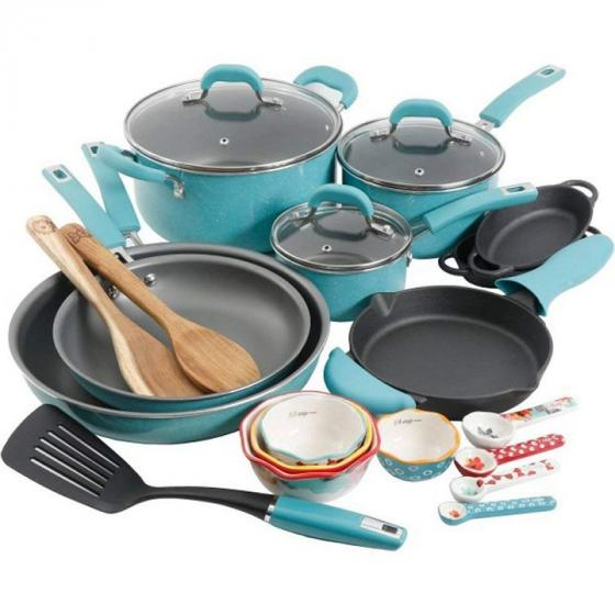 The Pioneer Woman 116099.24R Vintage Speckle Cookware Combo Set