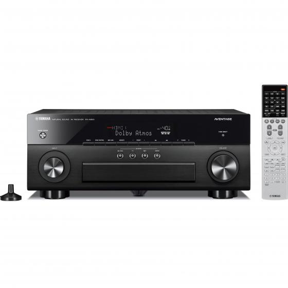 Yamaha RX-A860 7.2 Channel Network AV Receiver (Black) with Yamaha HPH-200 Headphones (White)