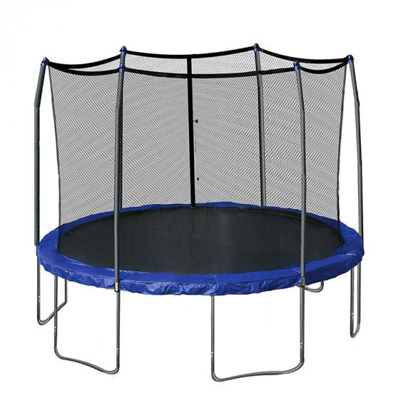 Skywalker Trampolines 12-Feet Round Trampoline (STEC12B) Enclosure with Spring Pad