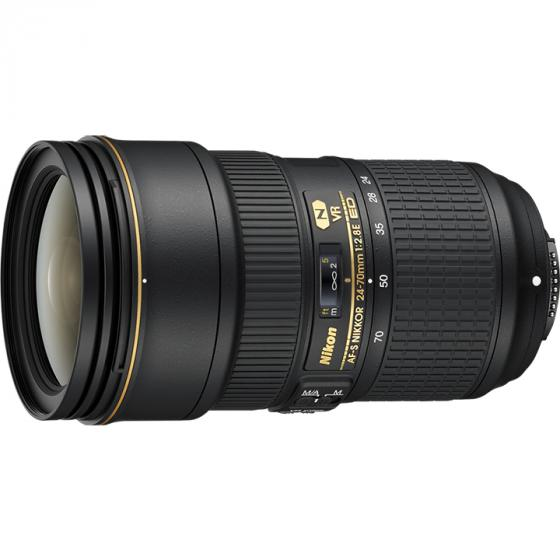 Nikon AF-S FX 24-70mm f/2.8E ED Vibration Reduction Zoom Lens with Auto Focus