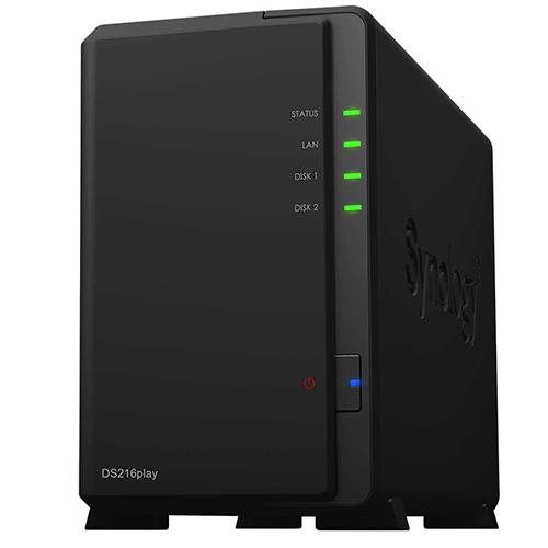 Synology DS216play Disk Station 2-Bay Diskless Network Attached Storage