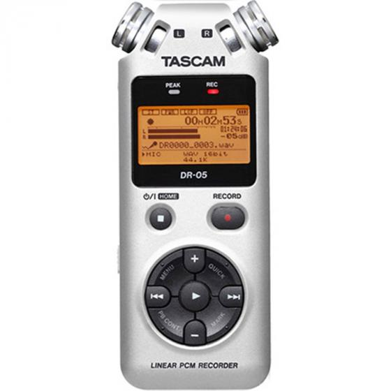 Tascam DR-05 Portable Digital Recorder, Silver