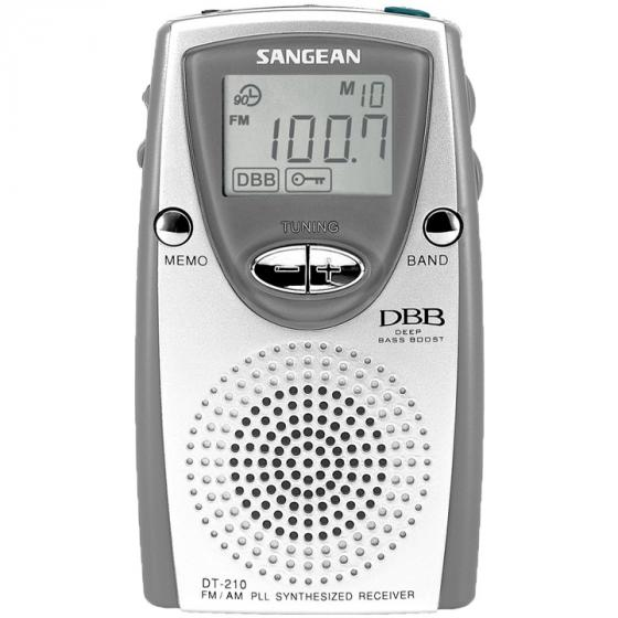 Sangean DT-210 FM-Stereo/AM PLL Synthesized Tuning Pocket Radio