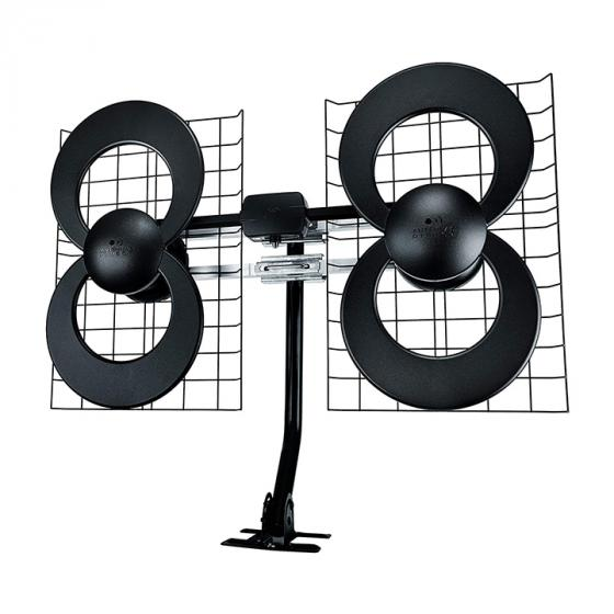 Antennas Direct ClearStream 4 (C4-CJM) Indoor/Outdoor HDTV Antenna with Mount