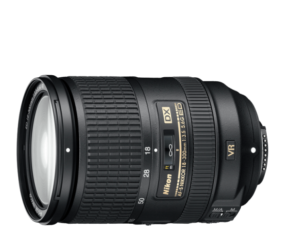 Nikon AF-S DX 18-300mm f/3.5-5.6G ED Vibration Reduction Zoom Lens with Auto Focus