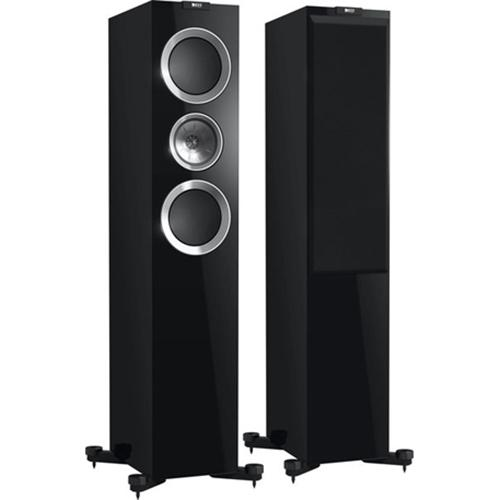 KEF R700 Floorstanding Loudspeaker - High Gloss Piano Black (Pair)